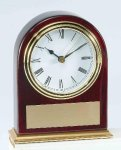 Piano Finish Mahogany Slanted Arch Clock Employee Awards