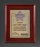 Cherry Finish Panel; Gold Tone Plate Recognition Plaques