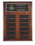 Walnut Perpetual Plaque Sales Awards