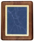 Walnut Plaque with Blue Marble Plate Sales Awards