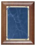 Scallop Walnut Plaque with Blue Marble Plate Sales Awards