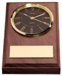 American Walnut Wedge Clock Sales Awards