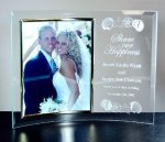 Curved Beveled Glass with Gold Photo Frame Secretary & Staff Gift Awards
