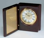 Piano Finish Mahogany Book Clock Secretary & Staff Gift Awards