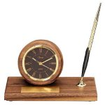 American Walnut Round Clock Secretary & Staff Gift Awards