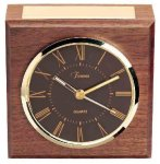 American Walnut Square Clock Secretary & Staff Gift Awards