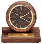 American Walnut Round Clock with Pen Secretary & Staff Gift Awards